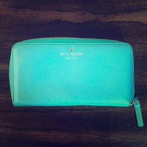 Kate spade sea foam blue/green wallet
